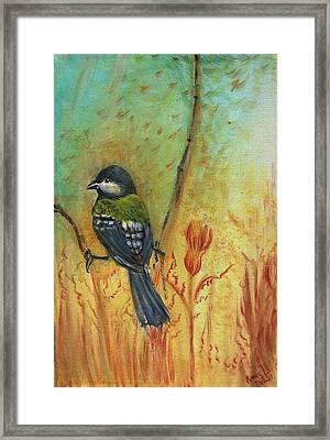 Birds Of A Feather Series3 In Autumn Framed Print by Remy Francis
