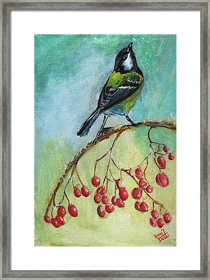 Birds Of A Feather Series4 Framed Print by Remy Francis