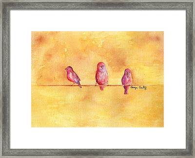Framed Print featuring the painting Birds Of A Feather - The Help by Tamyra Crossley