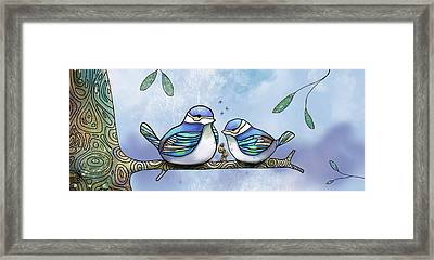 Birds Of Blue Framed Print by Karin Taylor