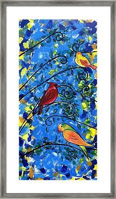 Birds Of Color Framed Print