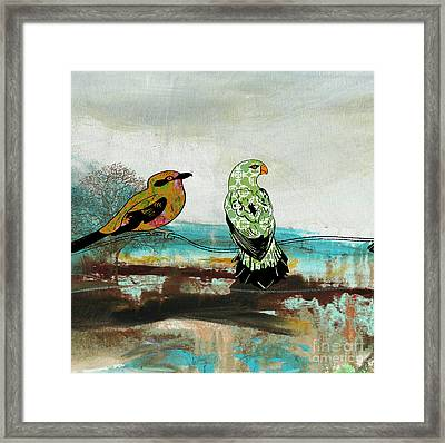 Birds Of Fire Lake-b Framed Print by Jean Plout
