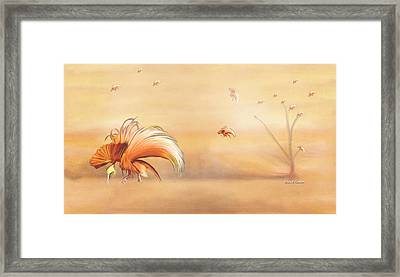 Birds Of Paradise In The Fog Framed Print by Angela A Stanton