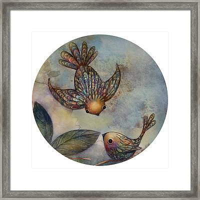 Birds Of Paradise Framed Print by Karin Taylor