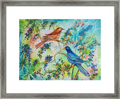 Birds Of Spring Framed Print