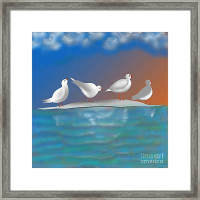 Birds Of Summer Breeze Framed Print