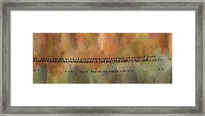 Birds On The  Lines  Framed Print by James BO  Insogna