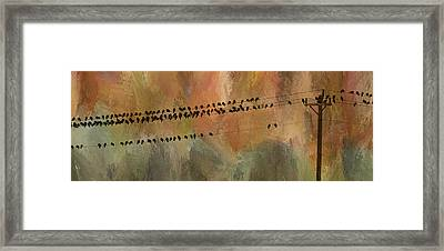 Birds On The Power Lines Framed Print by James BO  Insogna