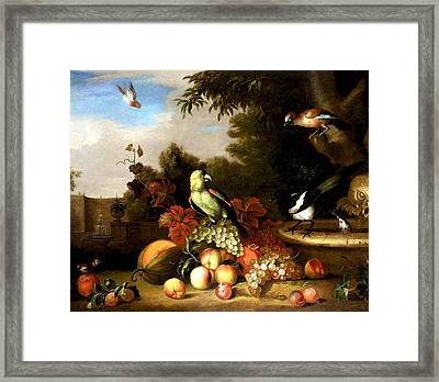 Framed Print featuring the digital art Birds by Tobias Stranover