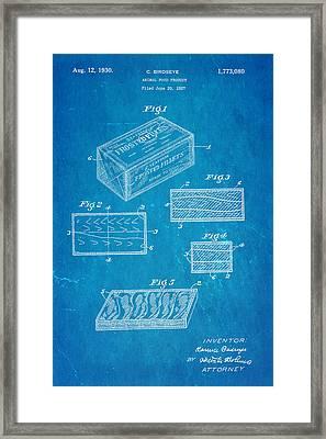 Birdseye Frozen Food Patent Art 1930 Blueprint Framed Print