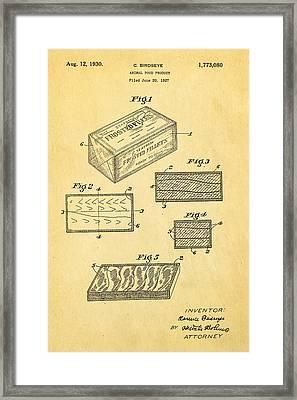 Birdseye Frozen Food Patent Art 1930 Framed Print