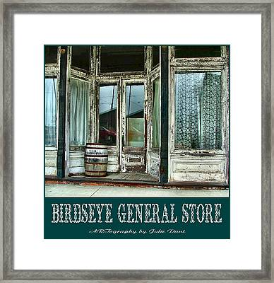 Birdseye General Store Framed Print