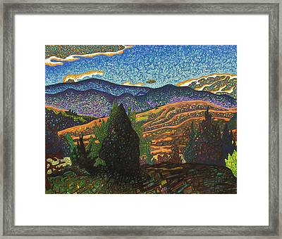 Birdseye Landscape #1 Framed Print by Dale Beckman