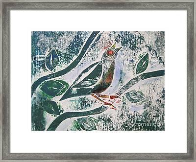Birdsong Framed Print by Judy Via-Wolff