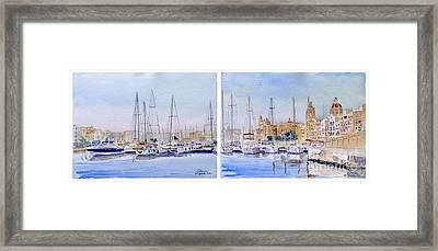 Birgu-senglea Waterfront Malta Framed Print