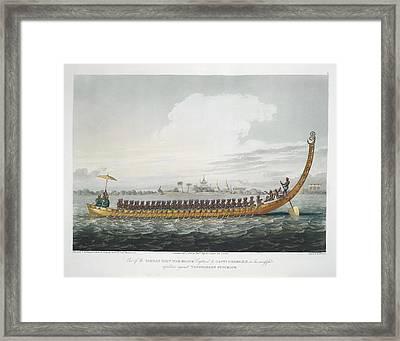 Birman War Boat Framed Print by British Library