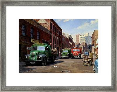 Birmingham Fruit And Veg Market. Framed Print by Mike  Jeffries