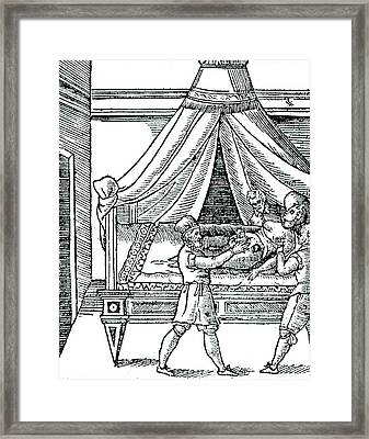 Birth By Caesarean Section Framed Print by Universal History Archive/uig