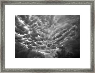 Birth Of A Mammatus Framed Print
