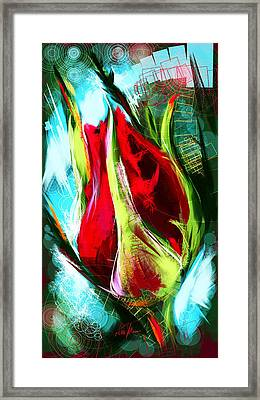 Birth Of A New Rose Framed Print