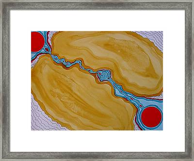 Birth Of A New Sun Original Painting Framed Print by Sol Luckman