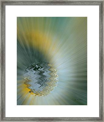 Framed Print featuring the digital art Birth Of A New World by Roy Erickson