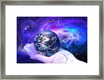 Birth Of A Planet Framed Print by Lisa Yount