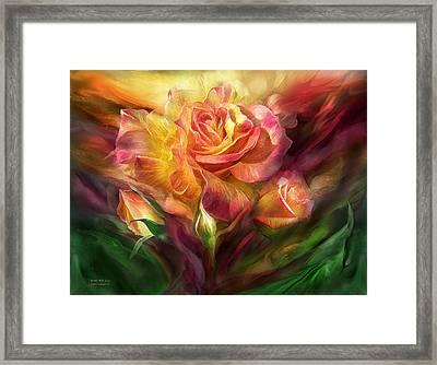 Birth Of A Rose Framed Print