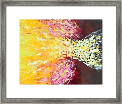 Birth Of A Star Framed Print by Margarita Gokun