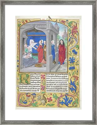 Birth Of Alexander Framed Print by British Library