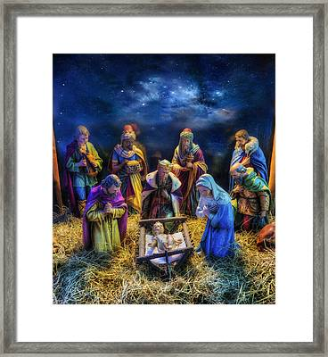 Birth Of Jesus Framed Print by Ian Mitchell