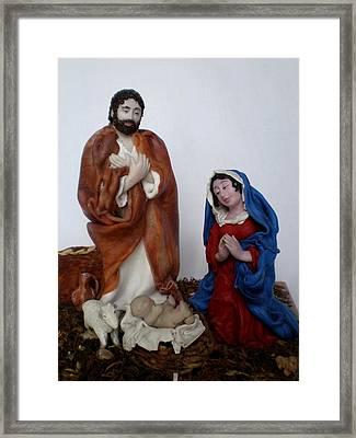 Birth Of Jesus Framed Print by Natalia Elerdashvili