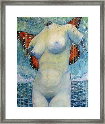 Birth Of The Beta Monarch Framed Print by Jonathan E Raddatz