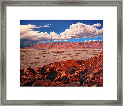 Birth Of The Canyon Framed Print