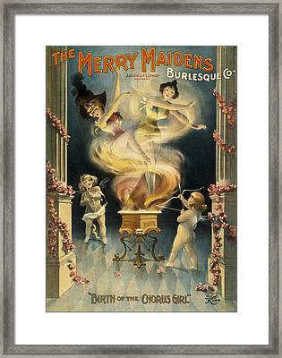 Birth Of The Chorus Girl Framed Print by Aged Pixel