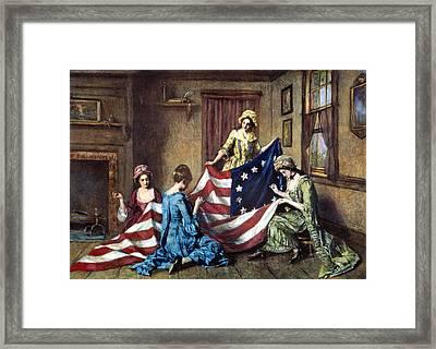 Birth Of The Flag Framed Print