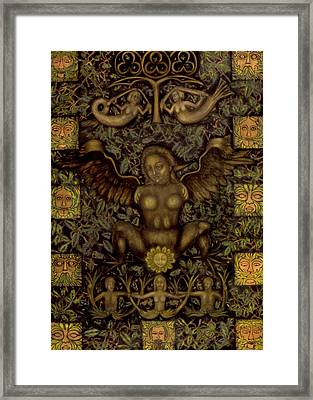 Birth Of The Greenman Framed Print