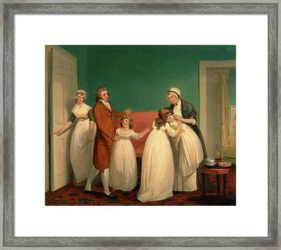 Birth Of The Heir, William Redmore Bigg, 1755-1828 Framed Print