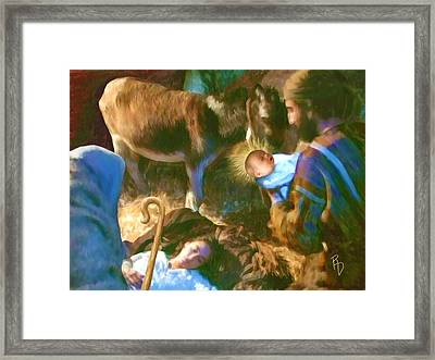 Birth Of The Saviour Framed Print by Ric Darrell