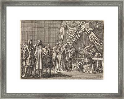 Birth Of The Son Of King James II Of England Framed Print by Jan Luyken And Pieter Van Der Aa (i)