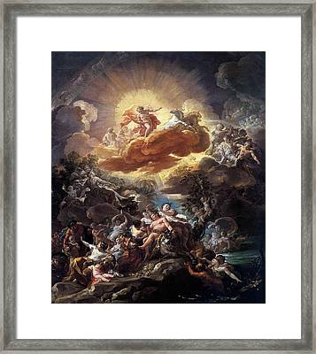 Birth Of The Sun Framed Print by Corrado Giaquinto
