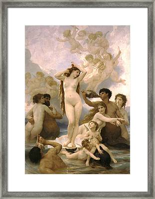 Birth Of Venus Framed Print by William Bouguereau