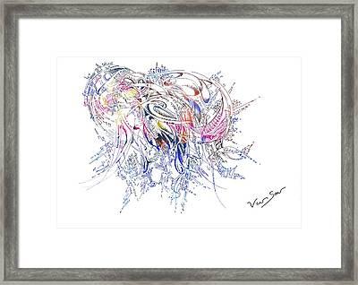 Birth Framed Print by Van Sar