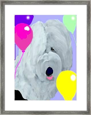 Birthday Balloons Framed Print