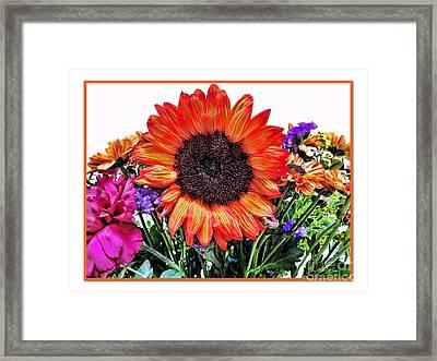Birthday Bouquet Framed Print by Joan  Minchak