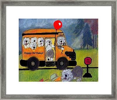 Birthday Bus Framed Print