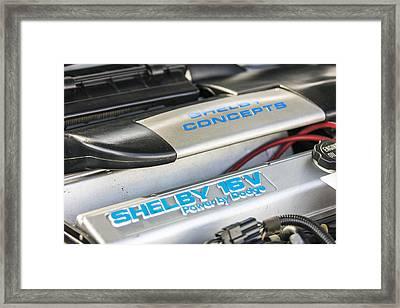 Birthday Car - Engine Bay Framed Print
