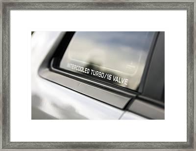 Birthday Car - Intercooled Turbo 16 Valve Framed Print