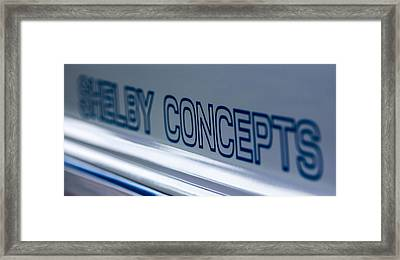 Birthday Car - Shelby Concepts Framed Print