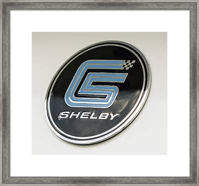 Birthday Car - Shelby Logo Framed Print